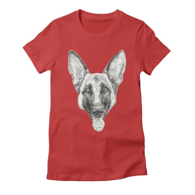 Cleo, the German Shepherd Women's T-Shirt by Ayota Illustration Shop