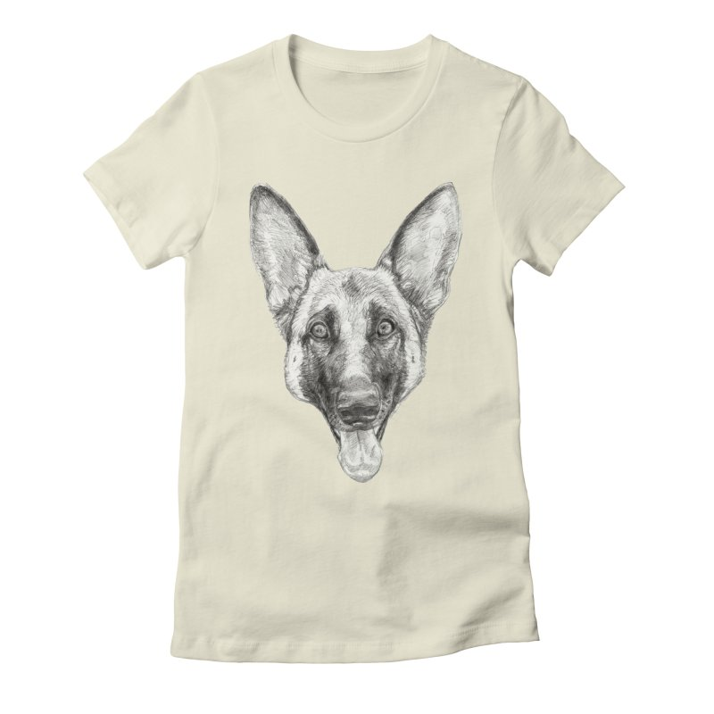 Cleo, the German Shepherd Women's T-Shirt by Ayota Illustration Shop
