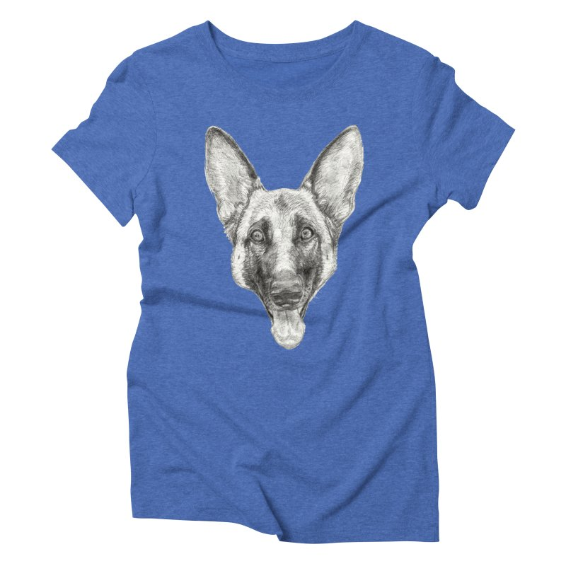 Cleo, the German Shepherd Women's Triblend T-Shirt by Ayota Illustration Shop