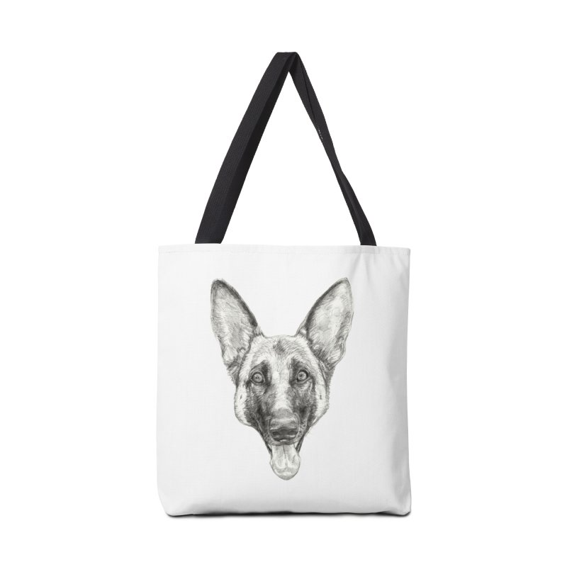 Cleo, the German Shepherd Accessories Tote Bag Bag by Ayota Illustration Shop