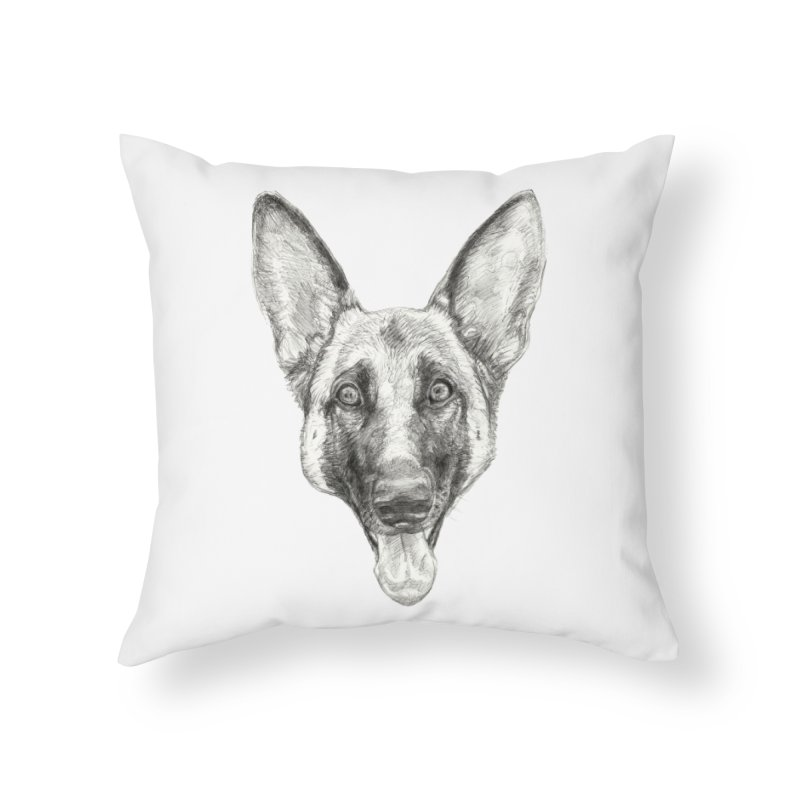 Cleo, the German Shepherd Home Throw Pillow by Ayota Illustration Shop