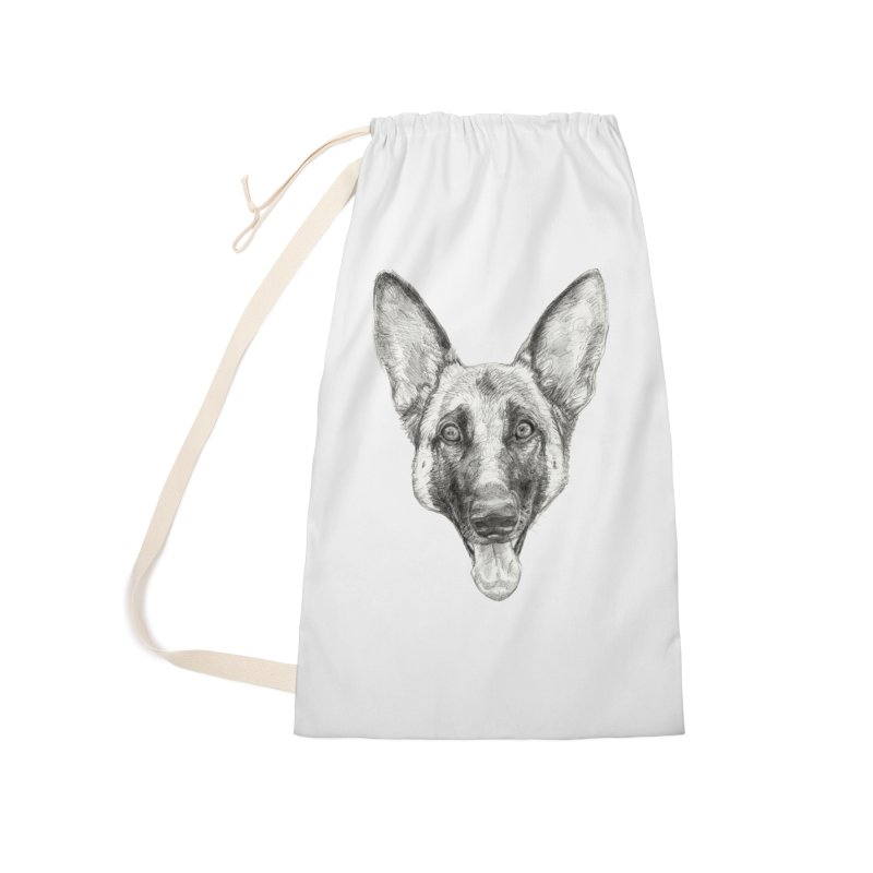 Cleo, the German Shepherd Accessories Laundry Bag Bag by Ayota Illustration Shop