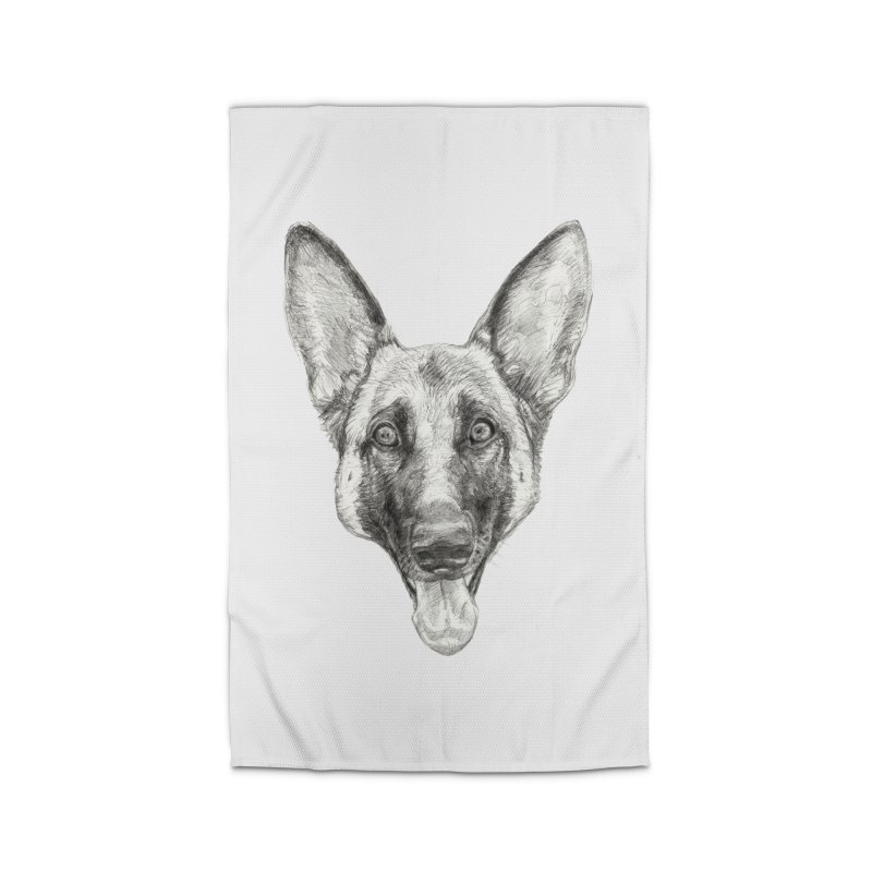 Cleo, the German Shepherd Home Rug by Ayota Illustration Shop
