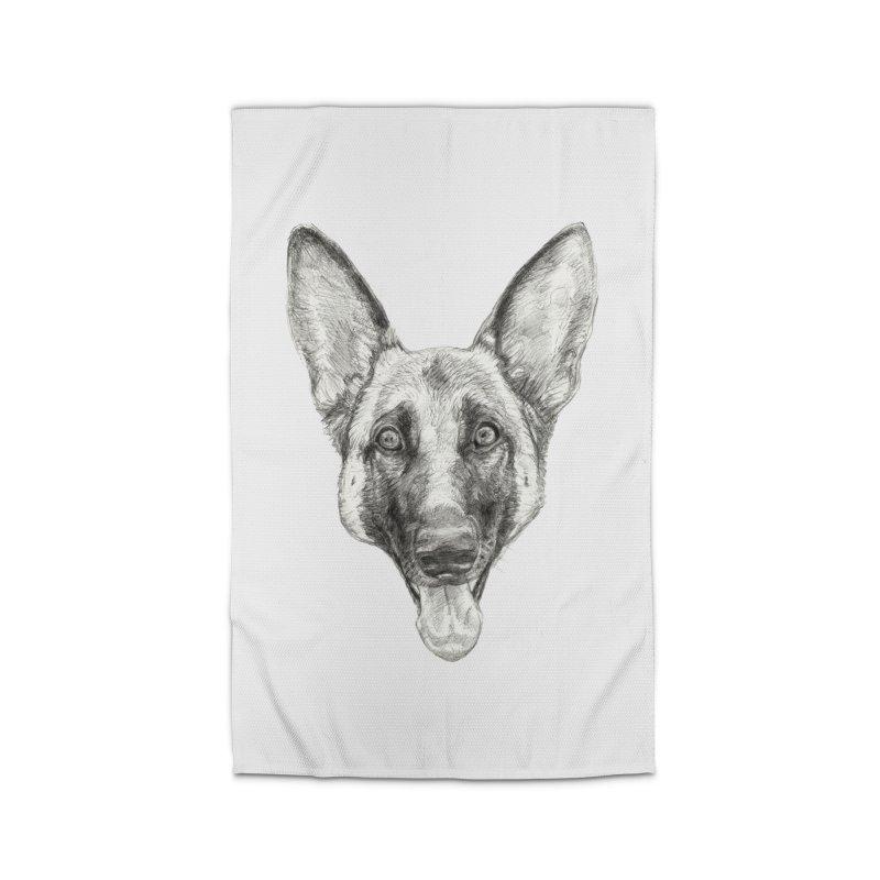 Cleo, the German Shepherd Home Rug by Ayota Illustration Shop