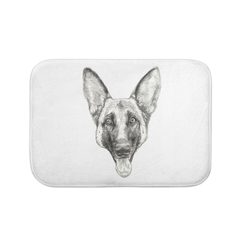 Cleo, the German Shepherd Home Bath Mat by Ayota Illustration Shop