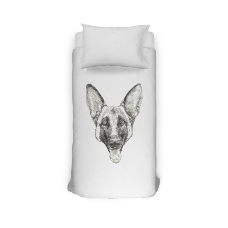 Cleo, the German Shepherd Home Duvet by Ayota Illustration Shop