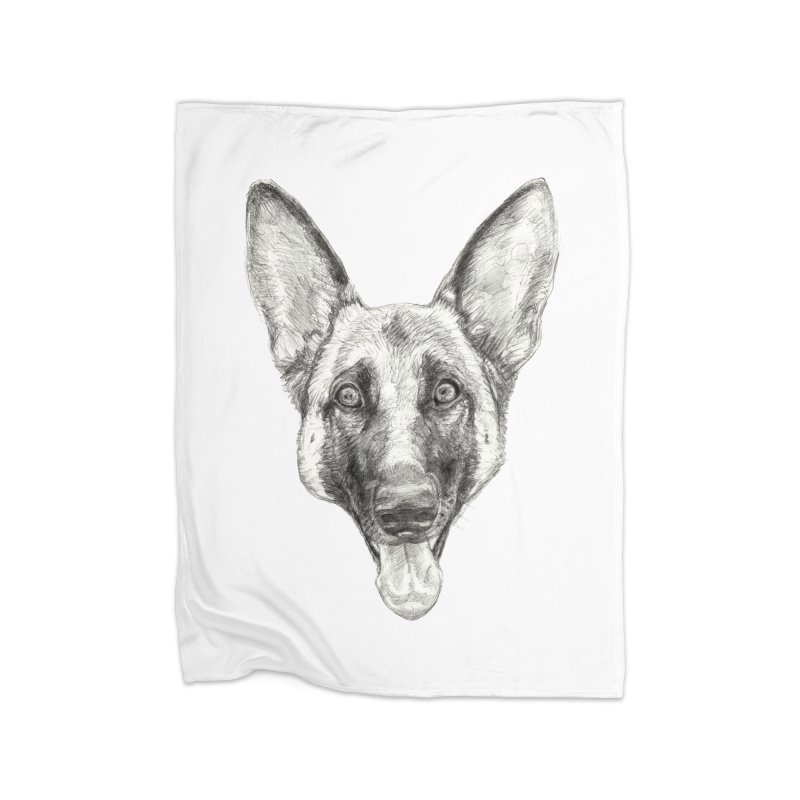 Cleo, the German Shepherd Home Blanket by Ayota Illustration Shop