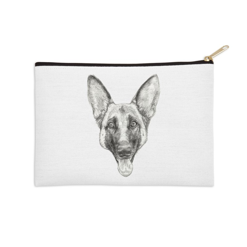 Cleo, the German Shepherd Accessories Zip Pouch by Ayota Illustration Shop