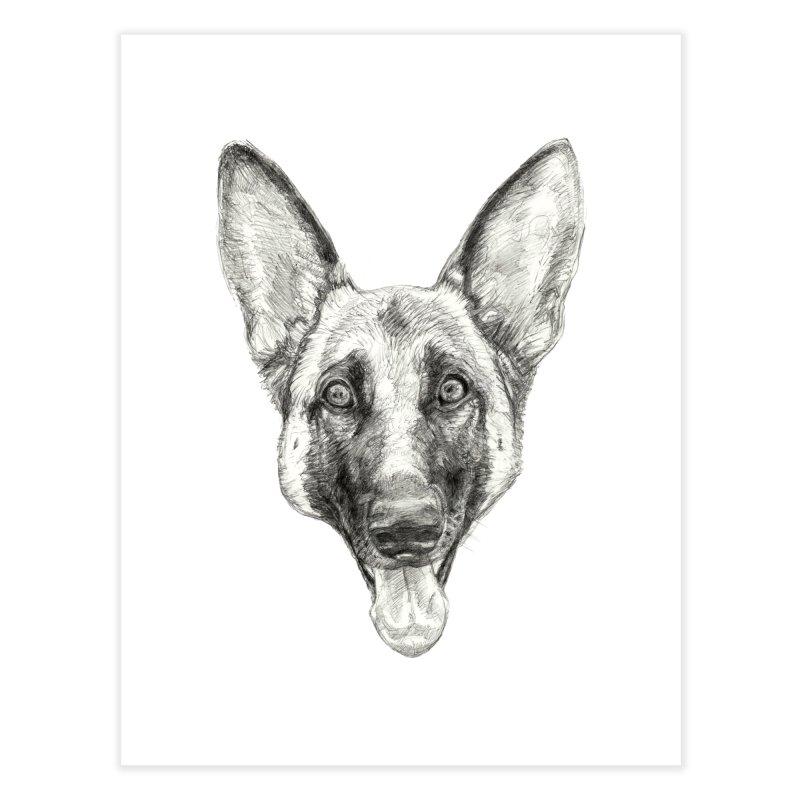 Cleo, the German Shepherd Home Fine Art Print by Ayota Illustration Shop