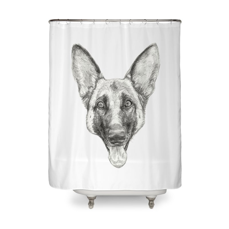 Cleo, the German Shepherd Home Shower Curtain by Ayota Illustration Shop