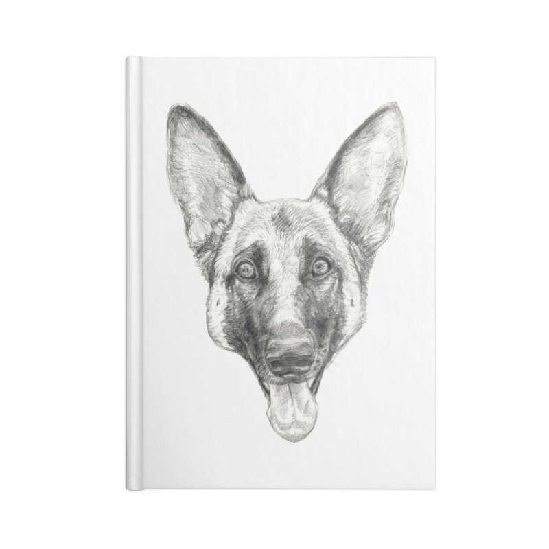 Cleo, the German Shepherd Accessories Lined Journal Notebook by Ayota Illustration Shop