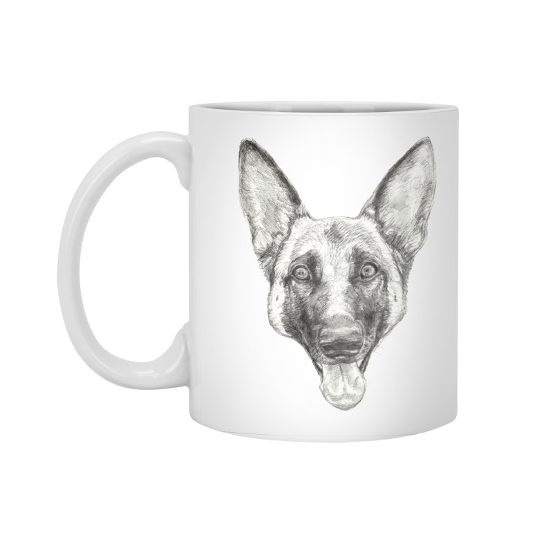 Cleo, the German Shepherd Accessories Standard Mug by Ayota Illustration Shop