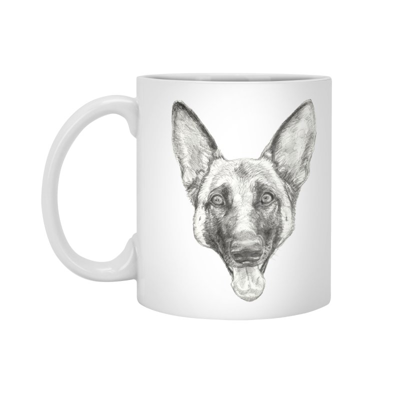 Cleo, the German Shepherd Accessories Mug by Ayota Illustration Shop