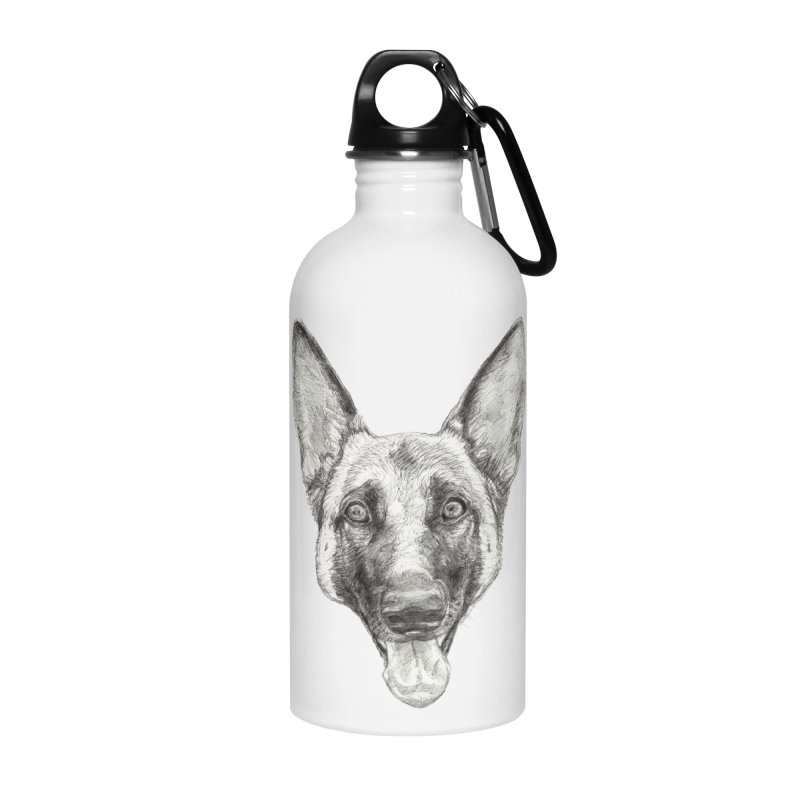 Cleo, the German Shepherd Accessories Water Bottle by Ayota Illustration Shop