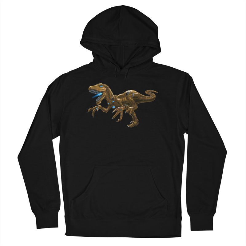 Rusty Robot Raptor Women's Pullover Hoody by Ayota Illustration Shop