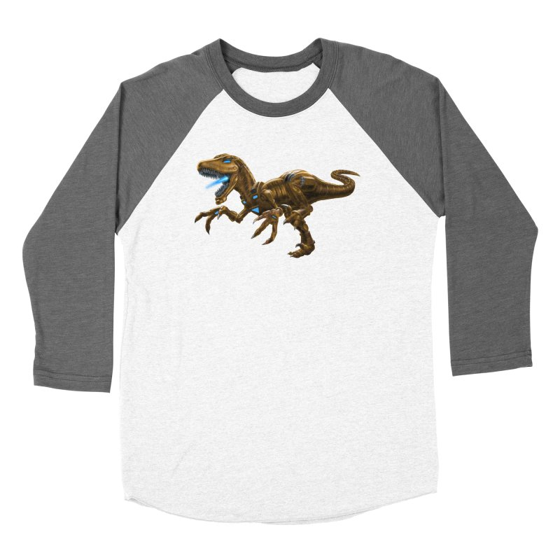 Rusty Robot Raptor Women's Longsleeve T-Shirt by Ayota Illustration Shop