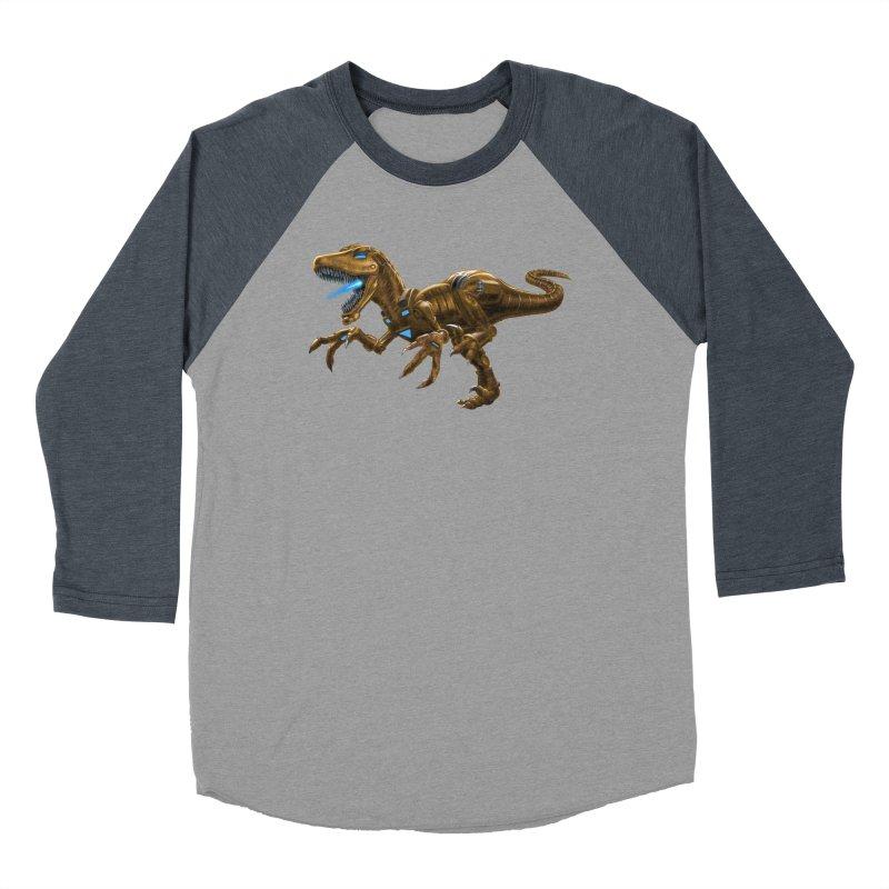 Rusty Robot Raptor Women's Baseball Triblend Longsleeve T-Shirt by Ayota Illustration Shop