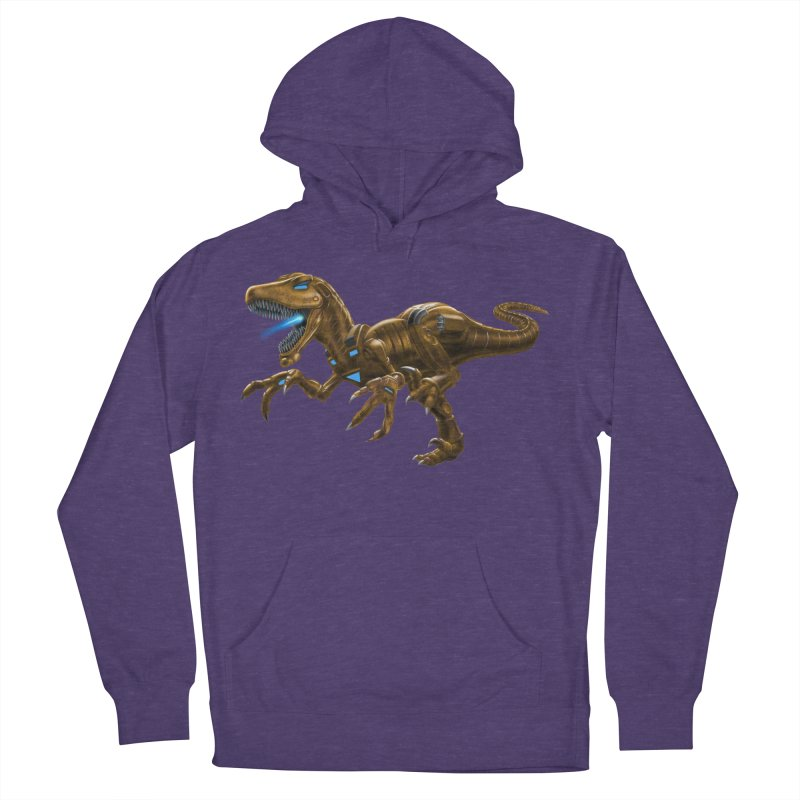 Rusty Robot Raptor Women's French Terry Pullover Hoody by Ayota Illustration Shop