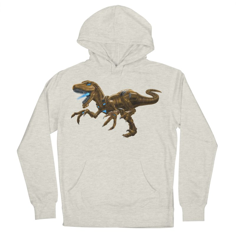 Rusty Robot Raptor Men's French Terry Pullover Hoody by Ayota Illustration Shop