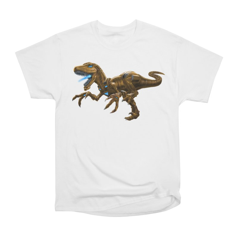Rusty Robot Raptor Men's Heavyweight T-Shirt by Ayota Illustration Shop