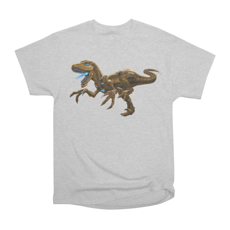 Rusty Robot Raptor Women's Heavyweight Unisex T-Shirt by Ayota Illustration Shop