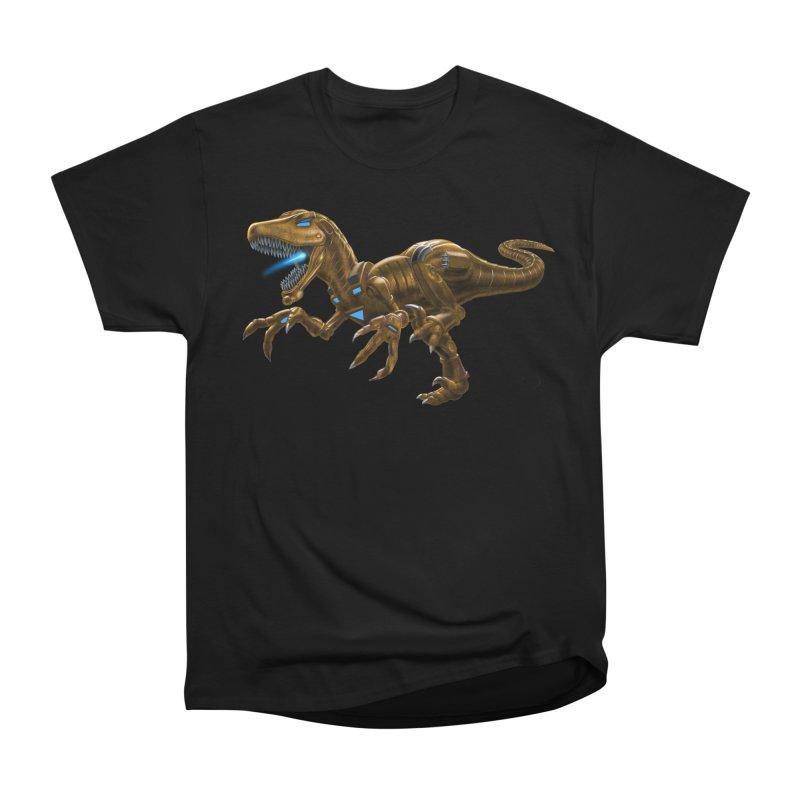 Rusty Robot Raptor Women's Heavyweight Unisex T-Shirt by Ayota Illustration Shop