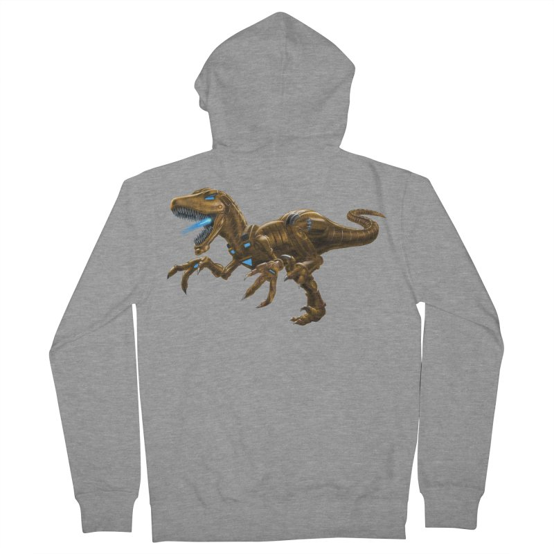 Rusty Robot Raptor Women's French Terry Zip-Up Hoody by Ayota Illustration Shop