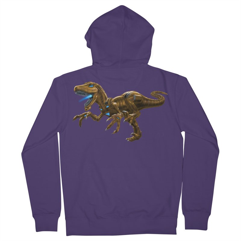 Rusty Robot Raptor Women's Zip-Up Hoody by Ayota Illustration Shop