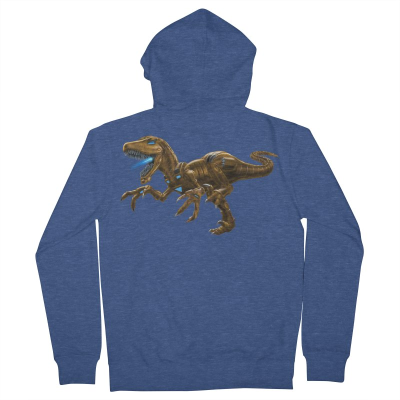 Rusty Robot Raptor Men's Zip-Up Hoody by Ayota Illustration Shop