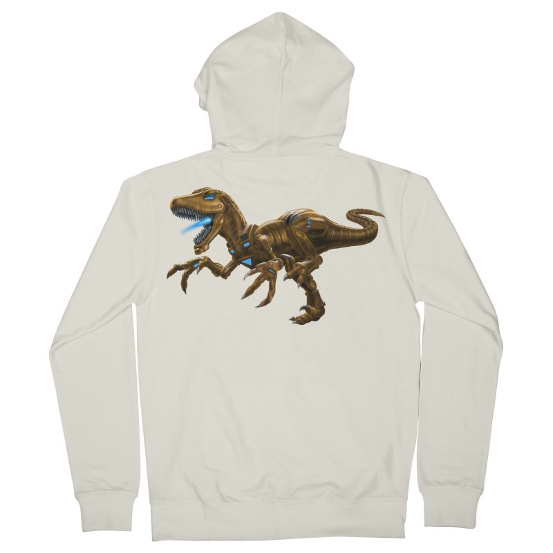 Rusty Robot Raptor Men's French Terry Zip-Up Hoody by Ayota Illustration Shop