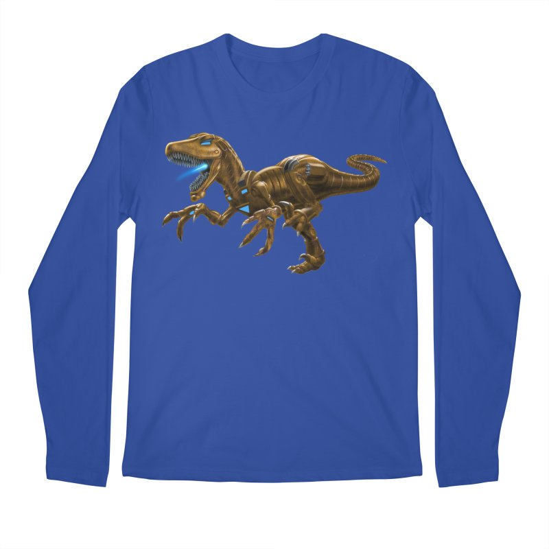 Rusty Robot Raptor Men's Regular Longsleeve T-Shirt by Ayota Illustration Shop
