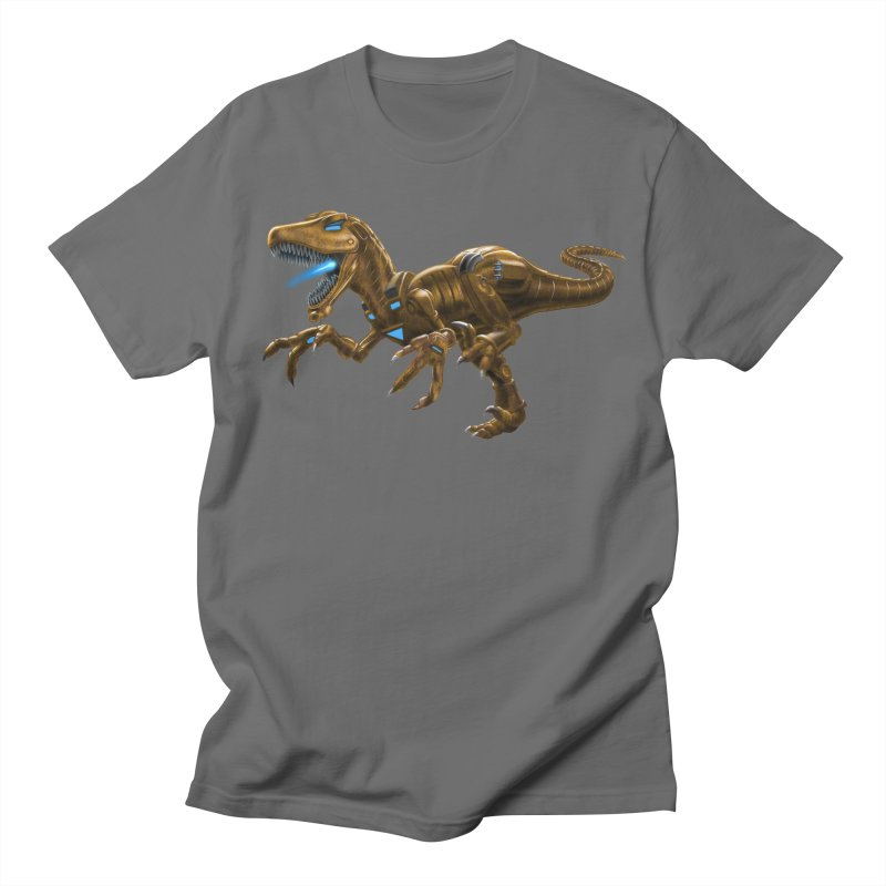 Rusty Robot Raptor Men's Regular T-Shirt by Ayota Illustration Shop