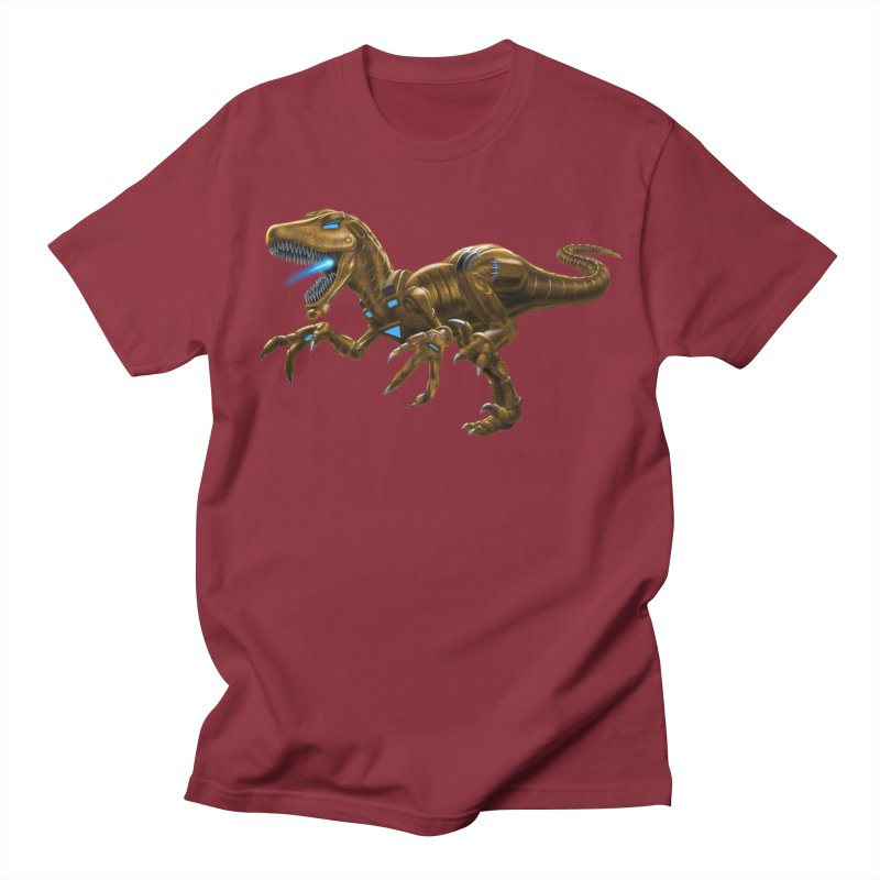 Rusty Robot Raptor Men's Regular T-Shirt by Ayota Illustration Shop