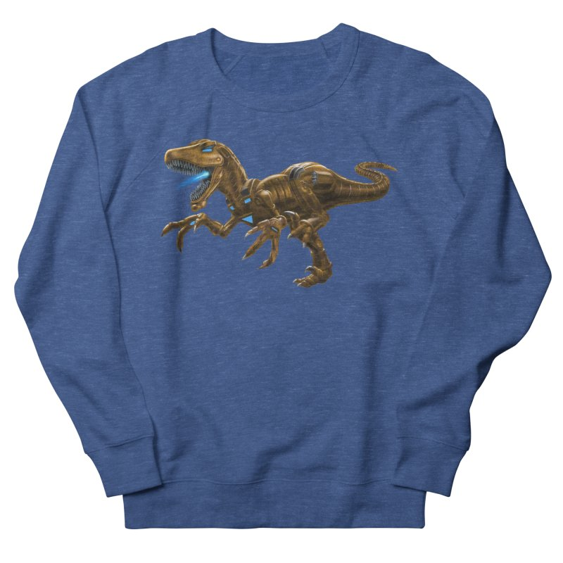 Rusty Robot Raptor Women's French Terry Sweatshirt by Ayota Illustration Shop