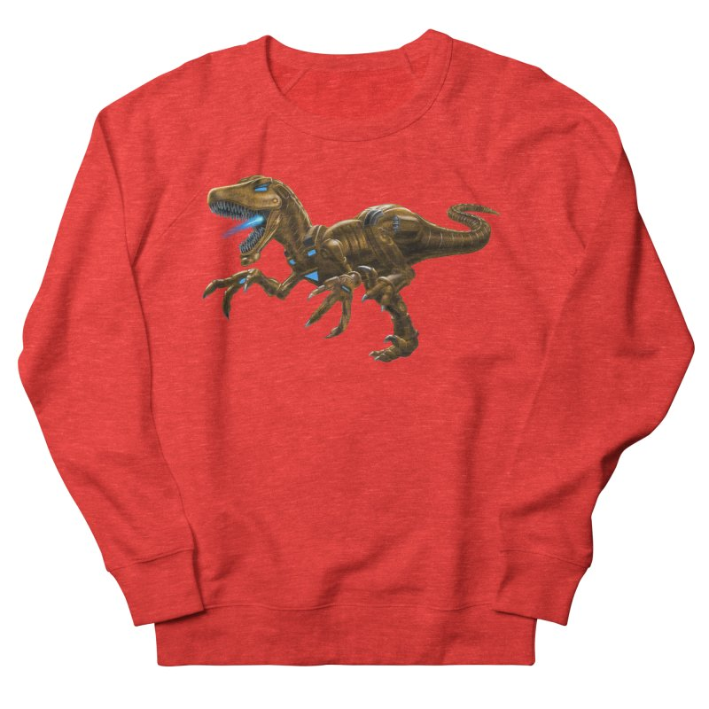 Rusty Robot Raptor Women's Sweatshirt by Ayota Illustration Shop