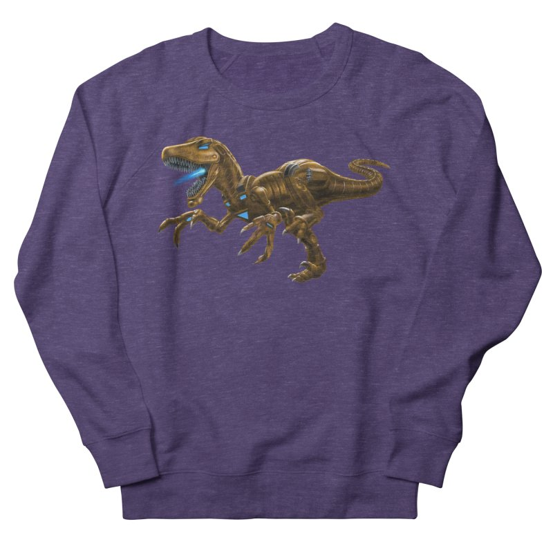 Rusty Robot Raptor Men's French Terry Sweatshirt by Ayota Illustration Shop