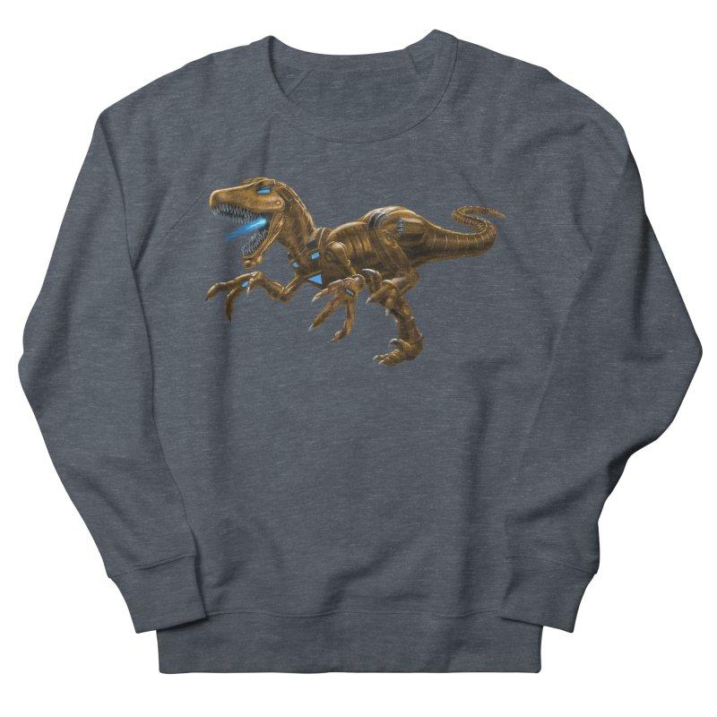 Rusty Robot Raptor Men's French Terry Sweatshirt by Ayota Illustration Shop