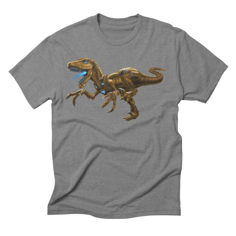 Rusty Robot Raptor Men's Triblend T-Shirt by Ayota Illustration Shop