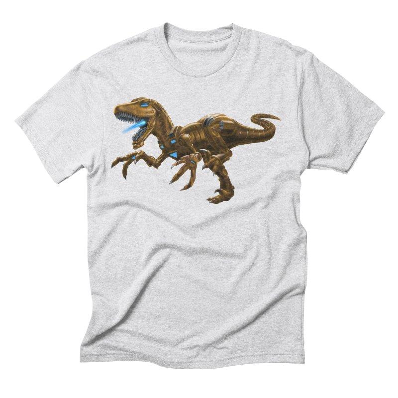 Rusty Robot Raptor Men's Triblend T-Shirt by Ayota Illustration Shop