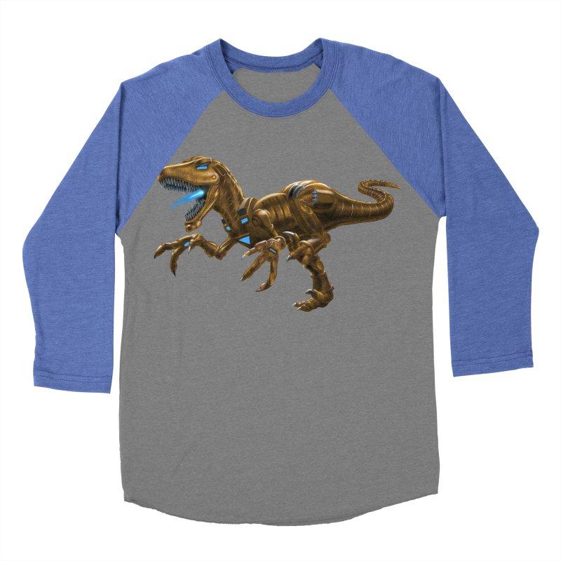 Rusty Robot Raptor Women's Baseball Triblend T-Shirt by Ayota Illustration Shop