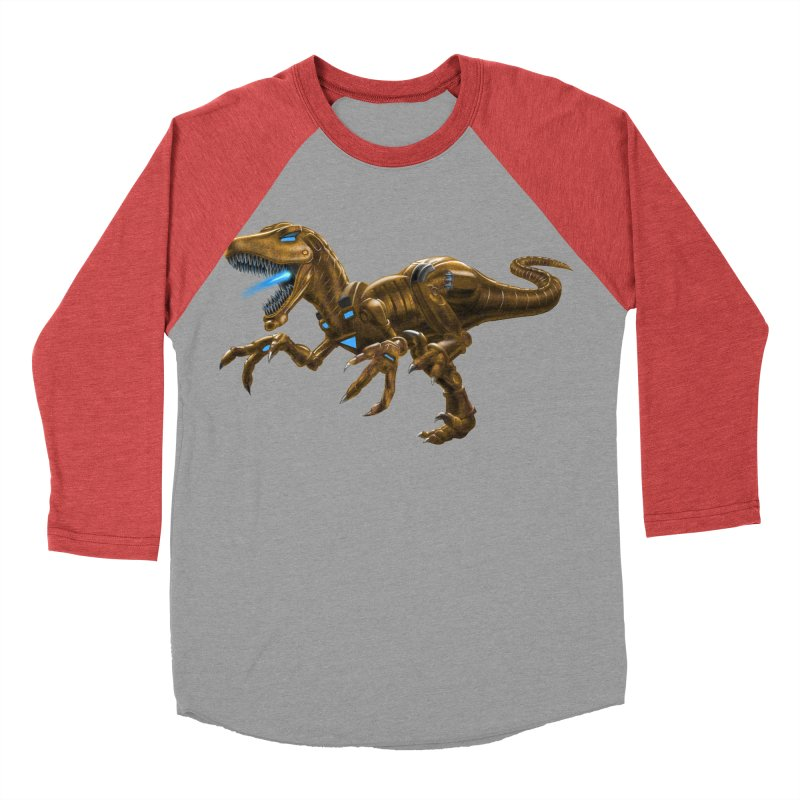 Rusty Robot Raptor Women's Baseball Triblend Longsleeve T-Shirt by Ayota Illustration Shop