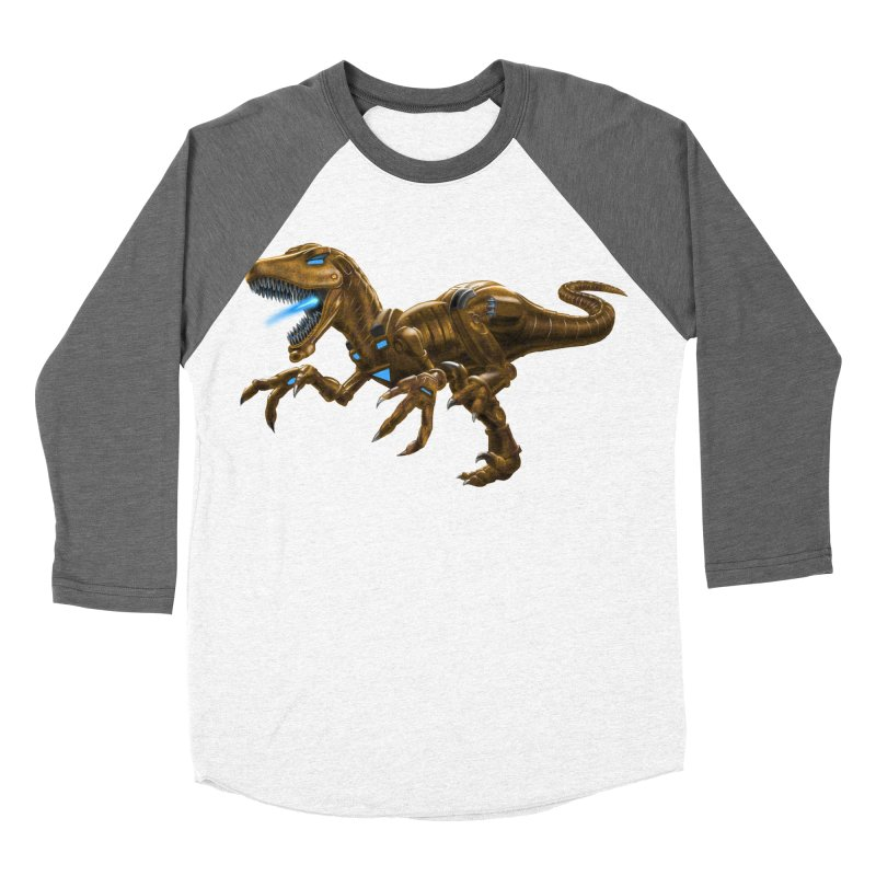 Rusty Robot Raptor Men's Baseball Triblend Longsleeve T-Shirt by Ayota Illustration Shop