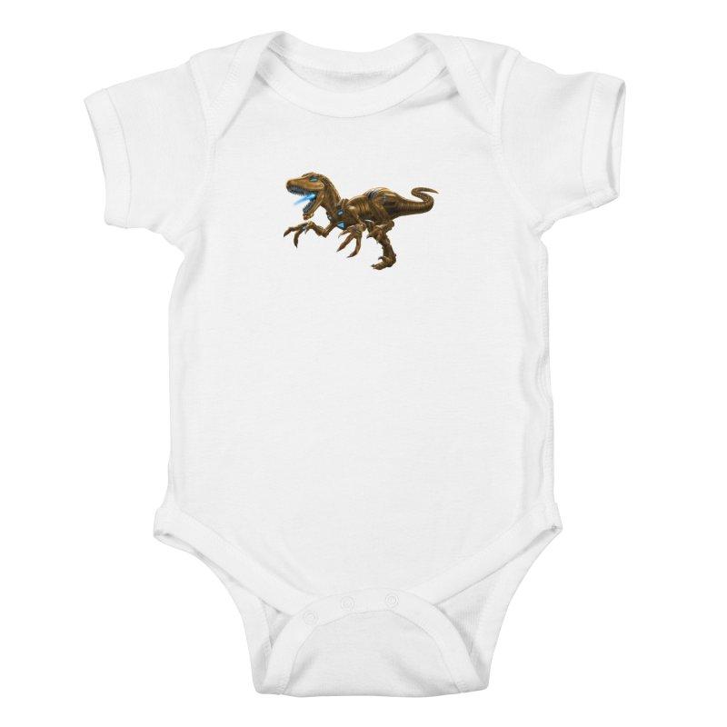 Rusty Robot Raptor Kids Baby Bodysuit by Ayota Illustration Shop