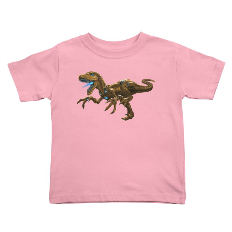 Rusty Robot Raptor Kids Toddler T-Shirt by Ayota Illustration Shop