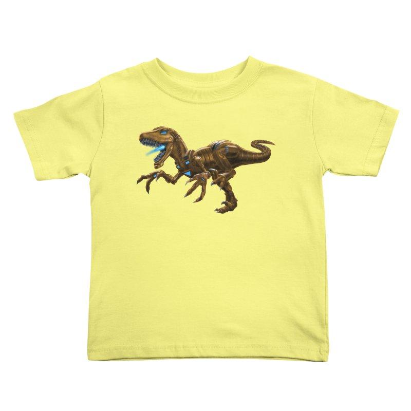 Rusty Robot Raptor Kids Toddler T-Shirt by Ayota Illustration Shop