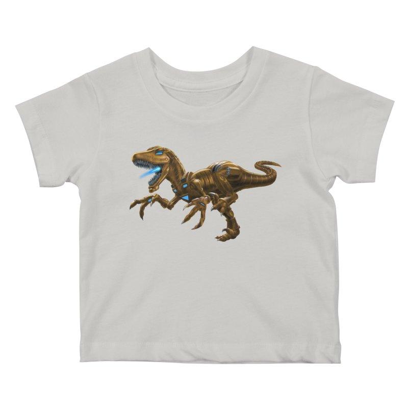 Rusty Robot Raptor Kids Baby T-Shirt by Ayota Illustration Shop