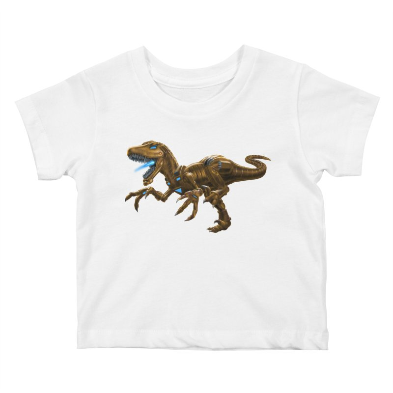 Rusty Robot Raptor Kids Baby T-Shirt by Ayota Illustration Shop
