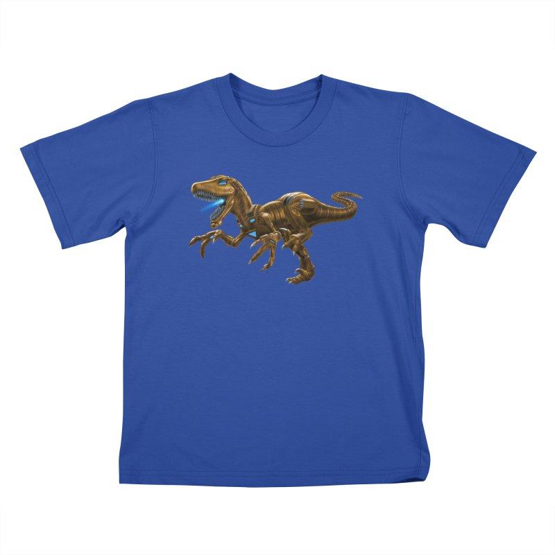 Rusty Robot Raptor Kids T-Shirt by Ayota Illustration Shop