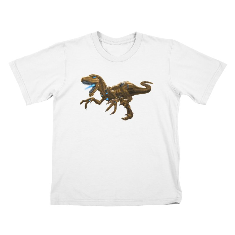 Rusty Robot Raptor Kids T-Shirt by Ayota Illustration Shop