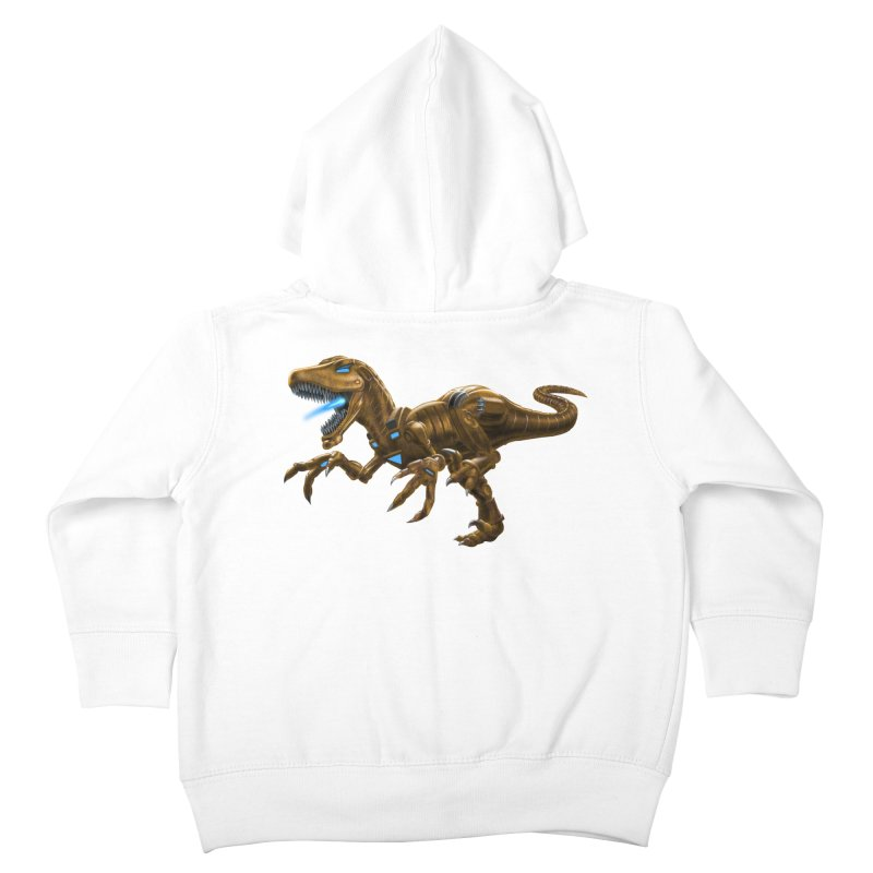 Rusty Robot Raptor Kids Toddler Zip-Up Hoody by Ayota Illustration Shop